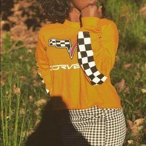 Mustard long sleeve corvette shirt